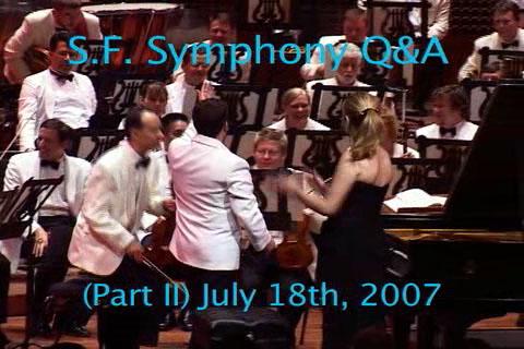 S.F. Symphony Q&A - Part II